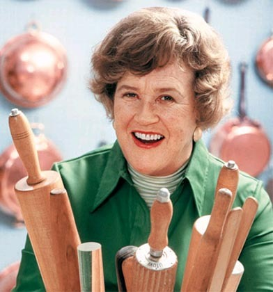 Julia Child with Rolling Pins