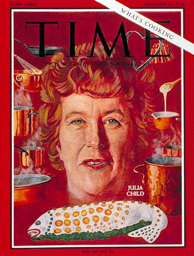 Julia Child In Montage Esq Cover of Time