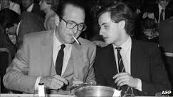Jacque Chirac Chatting with Sarkozy