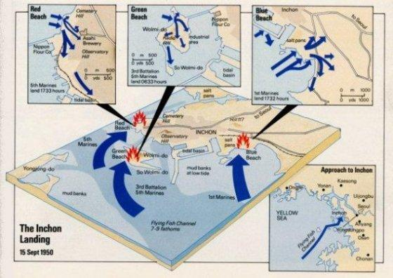 Korean Map Inchon Assault