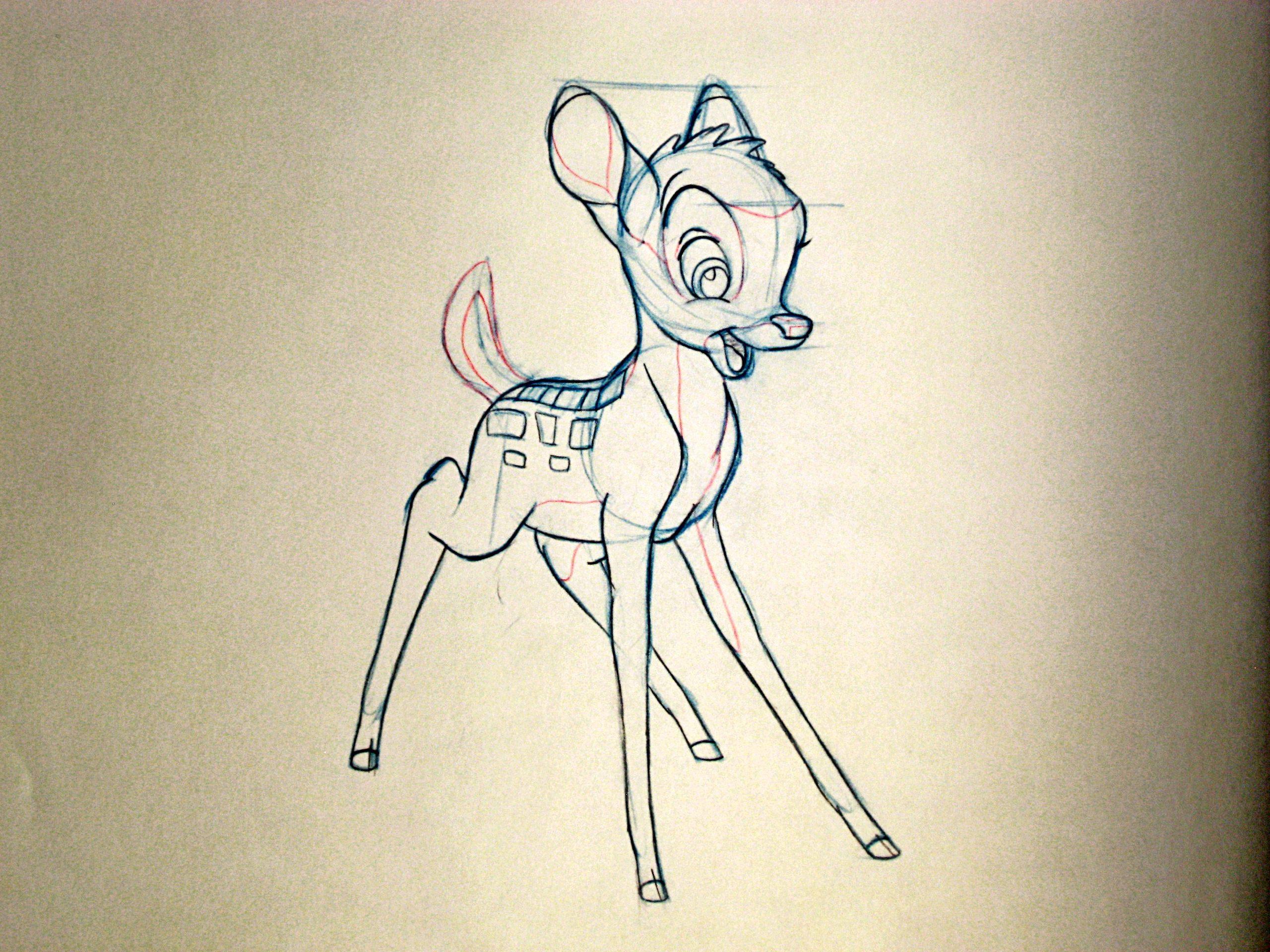 Bambi Original Drawings