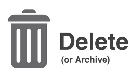 Delete useless emails or archive them for later