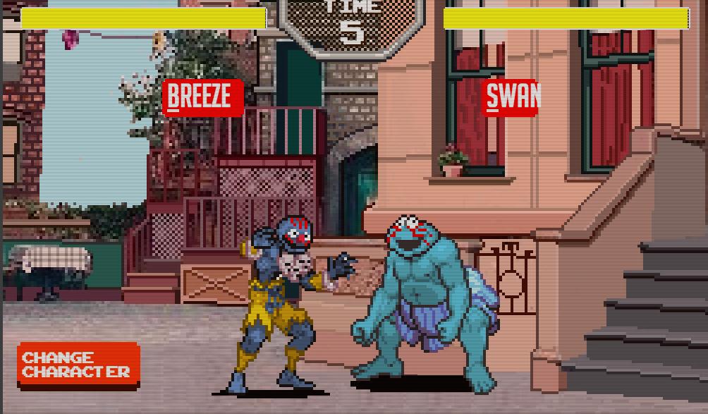 Fun sesame street fighters game