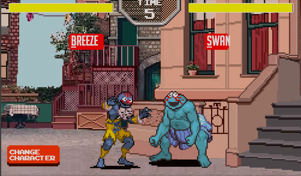 Fun sesame street fighters game