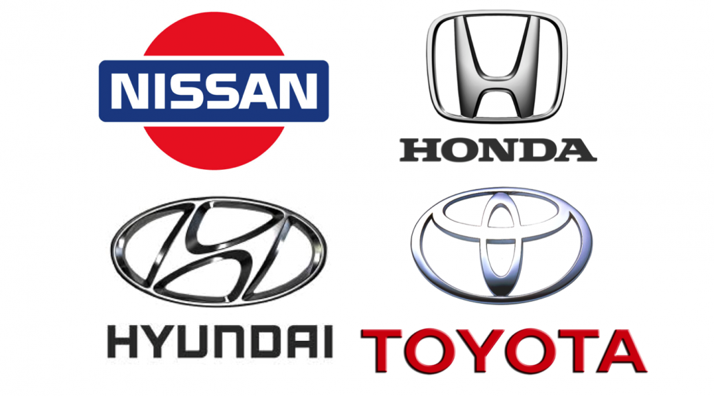 Car Manufactures from Japane