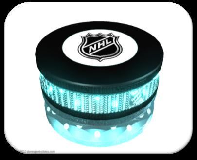 Neon Hockey Pucks