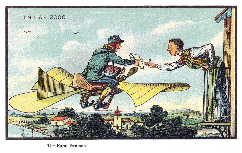 Aerial Postman in France in the Year 2000