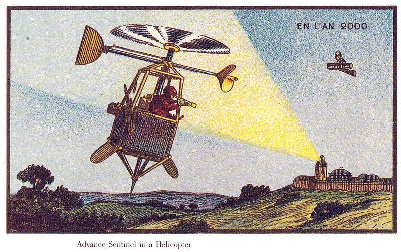 Helicopters in France in the Year 2000